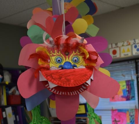 A colourful art craft from the preschool