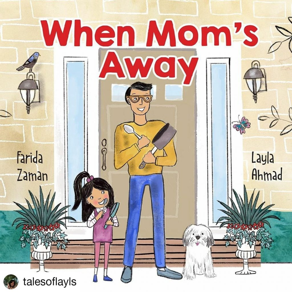 book cover for 'When Mom's Away'