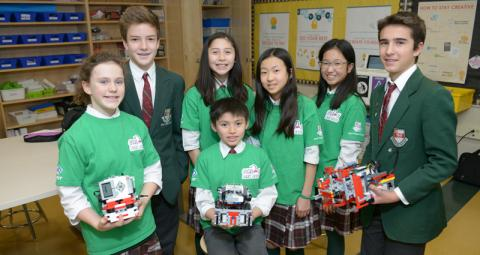 a technology club shows off their creations