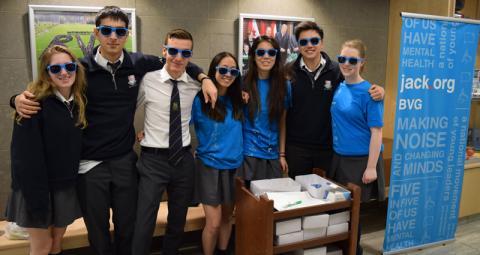 Upper school students at a Jack.org meetup
