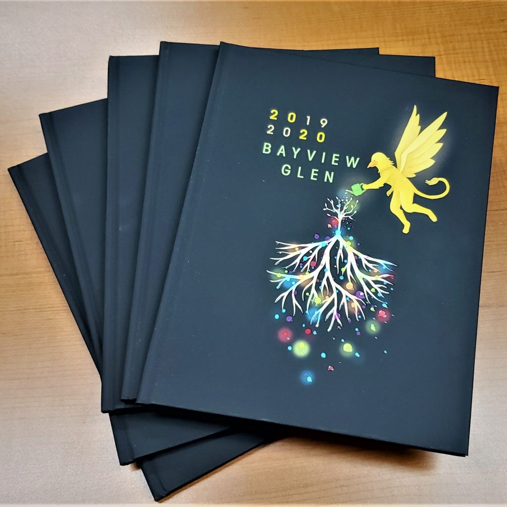 covers of the 2019-2020 yearbooks