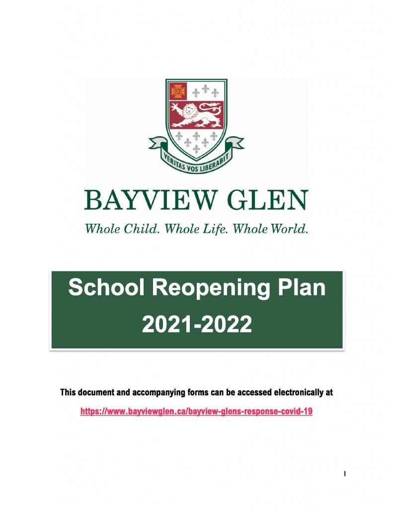 School reopening booklet