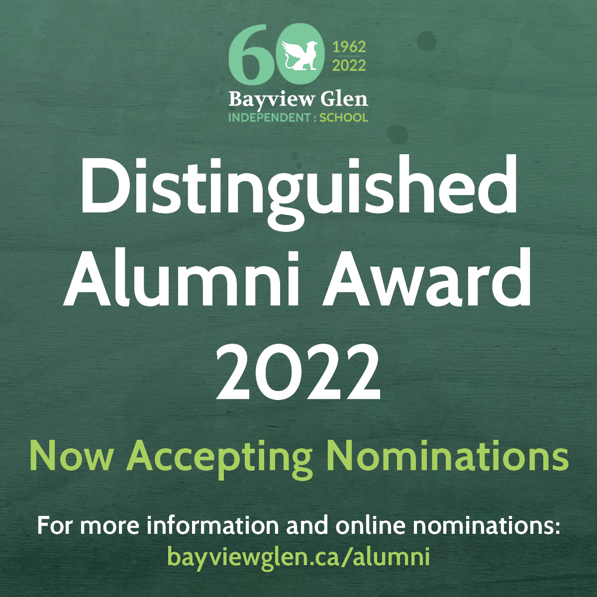 BVG Distinguished Alumni Award 2022 Now Accepting Nominations