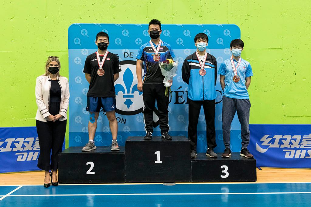 Terence Yeung '20 winning the Bronze medal in Table Tennis Men Singles at the 2021 Canadian Championships